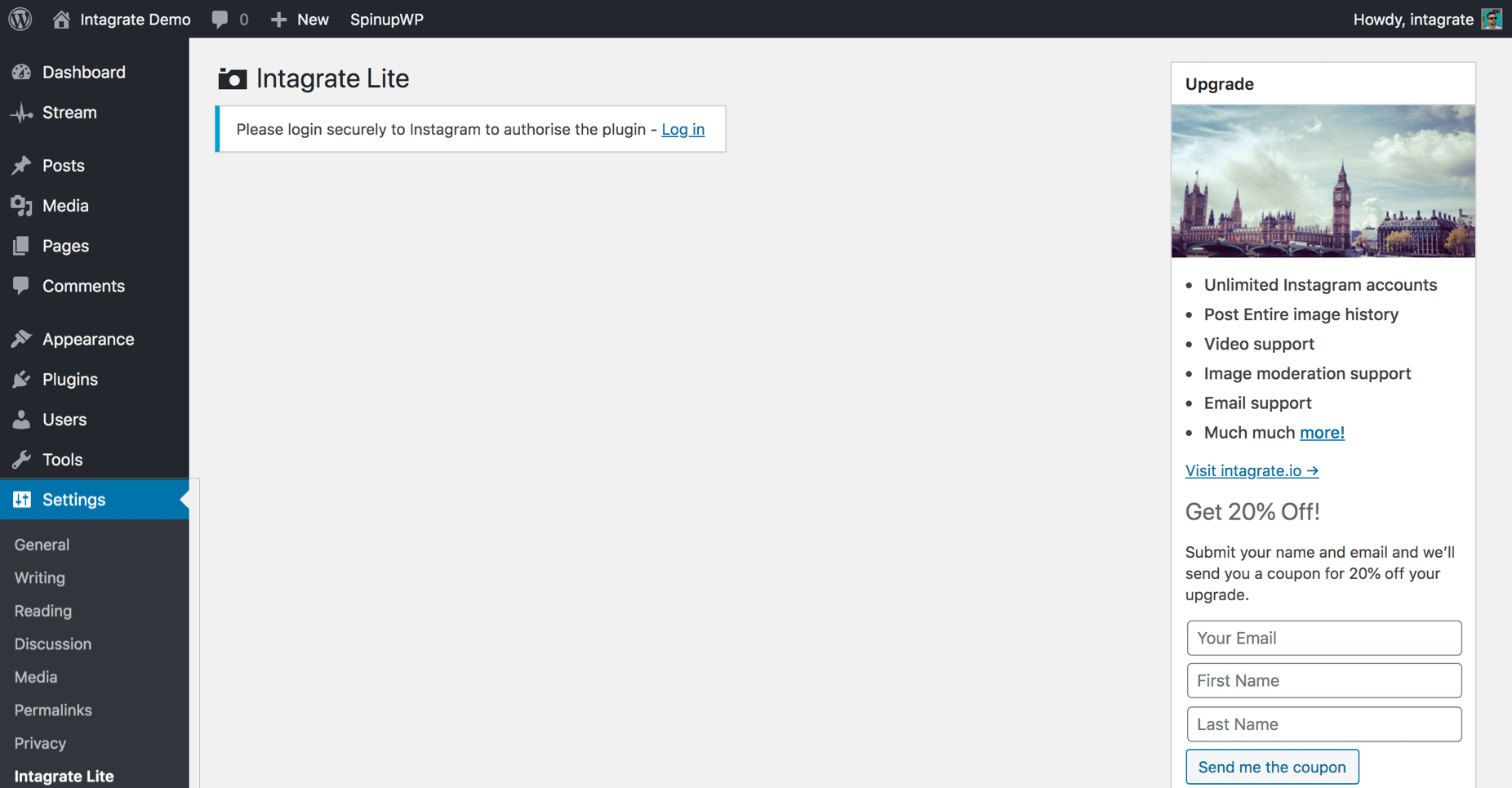 embedding instagram wordpress step 2