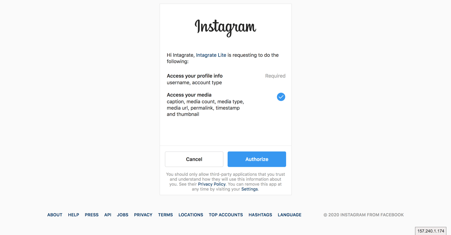 embedding instagram wordpress step 4